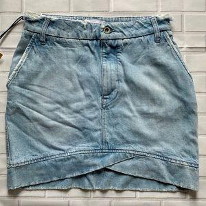 Dresses & Skirts - Distressed Mini Denim Skirt